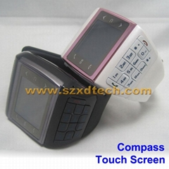 Dual Sim Dual Standby Watch Mobile Phone with Keyboard FM