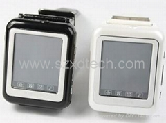 Cheapest Triband Sports Watch Mobile Phone AK09 with Leather Belt