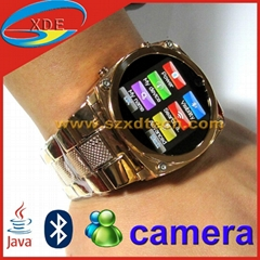 High Definition Luxury Touch Screen Watch Mobile Phone with JAVA Bluetooth