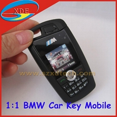 Quadband MINI BMW 760 Car Key Mobile Phone with MP4 Bluetooth