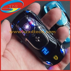 Ferrari Car Key Mobile Phone with LED light on the Cover