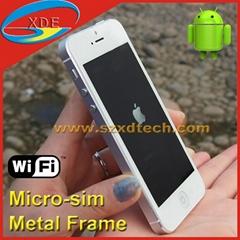 Replica iPhone 5 with Nano Sim Slot and Micro Sim Slot Wifi Metal Frame