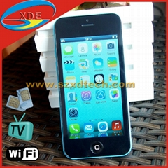 Cheapest Quadband Apple iPhone 5C Copy Cell Phone TV Wifi