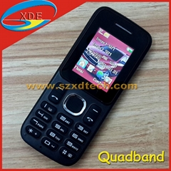 Cheapest Quadband Cell Phone Dual Sim Dual Standby GSM Mobile Phone