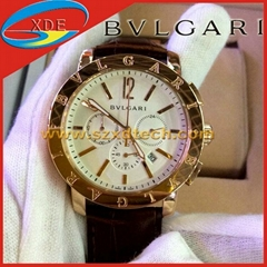 Luxury Watch BVLGARIr Watch Leather Belt with Minutes Seconds and Dates