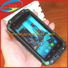 Cool Outdoor Millitary Mobile Phones Waterproof Dust Proof Crash Proof