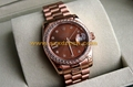 Rolex Wrist Clone Diamond Oyster Perpetual Style Watches 7