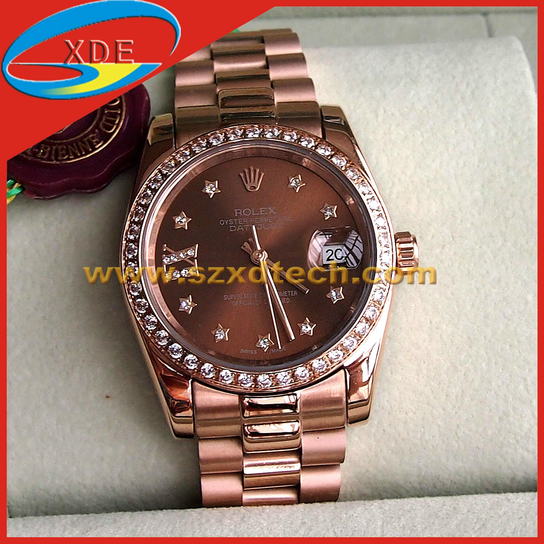 Rolex Wrist Clone Diamond Oyster Perpetual Style Watches 1