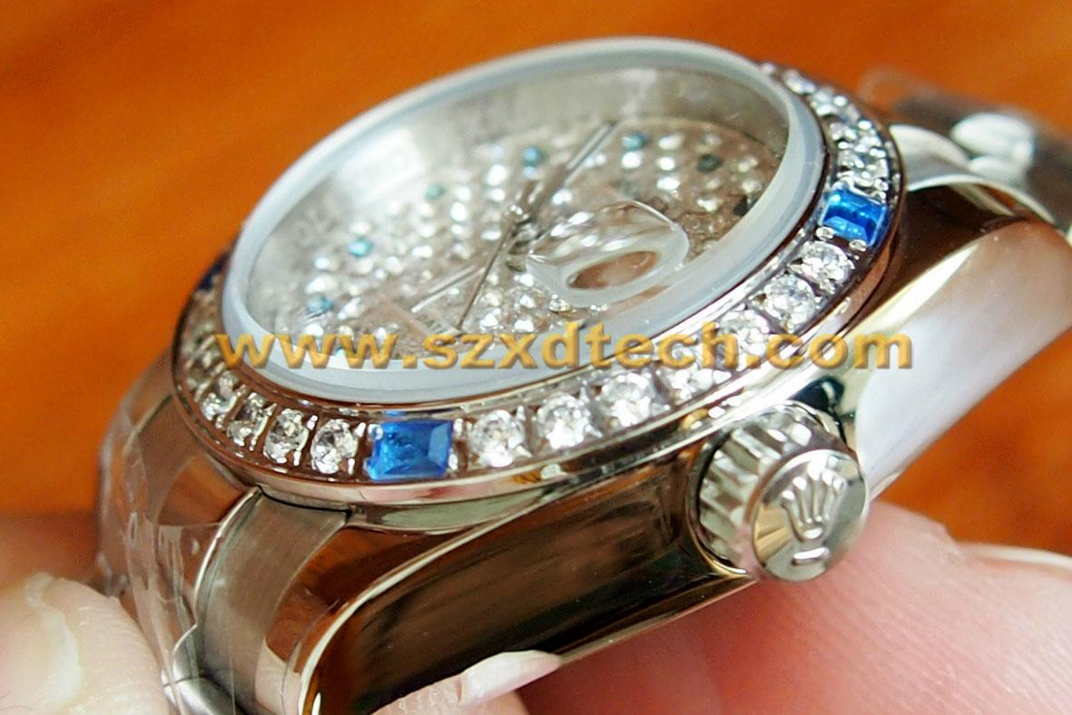 Clone Rolex Wrist with Diamond Both Men and Women Size Avaliable 7