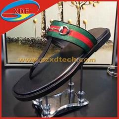 Gucci Leather Horsebit thong Gucci Slippers 1:1 Copy
