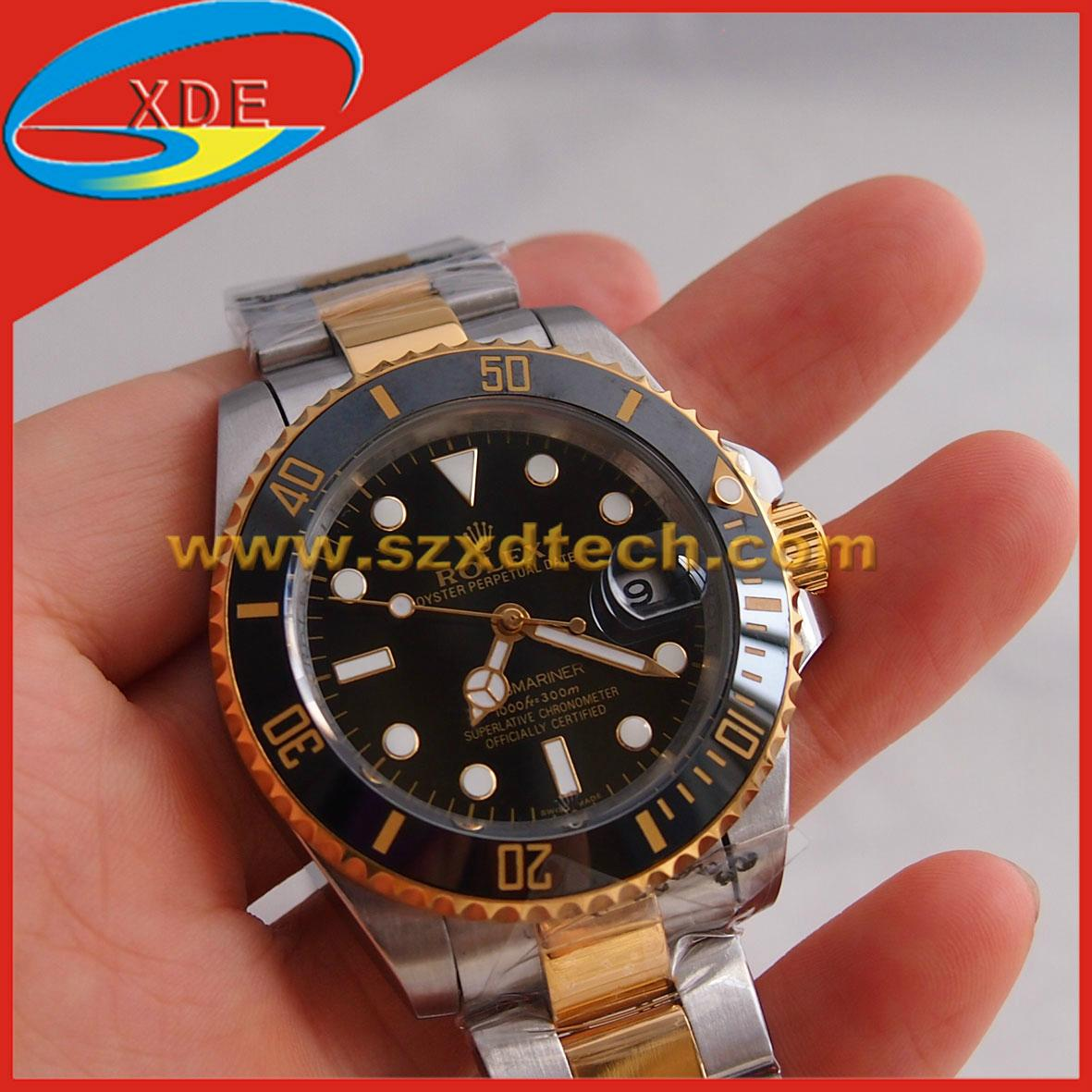 Rolex Watches OYSTER PERPETUAL SUBMARINER Clone Gold or Silver Belt All Colors 1