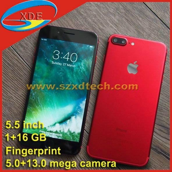 Clone iPhone 7 Plus 5.5 inch Fingerprint 1+16GB Red Colour Avaliable