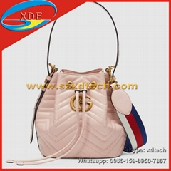 Gucci Handbags GG Marmont Quilted Leather Bucket Bags Lady's Bag