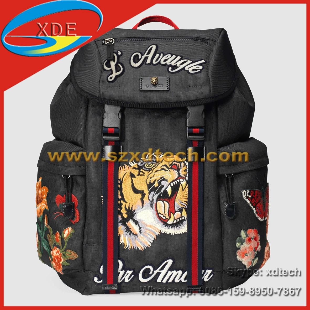 6643d4a624e Gucci Handbags Gucci Backpack with Tiger Embroidered - XD-GB10 ...