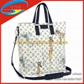 White and Black LV Tote Bags Men's Bags