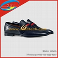 Gucci Leather Shoes Classic Design Leather loafer with GG Web