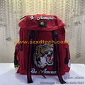 Gucci Handbags Gucci Backpack with Tiger Embroidered
