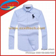 Polo Men's Shirts Men Stripe Shirt Cotton Shirts Polo Button Down Shirts