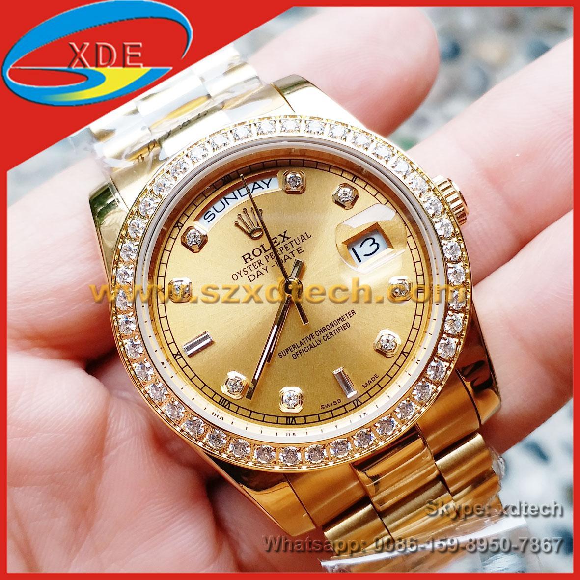 Luxury Rolex Watches Diamond Rolex Wrist Day Date 36 Men's Watch Women's Watch
