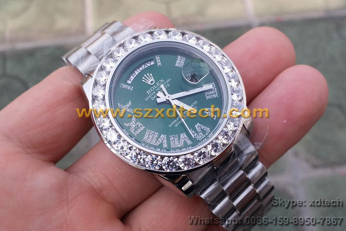 Big Diamond Rolex Watches Different Color Dial Avaliable Luxury Watches 4