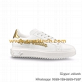 BEVERLY HILLS SNEAKER TIMEOUT-1A3U4M LV Calf Leather LV Sneakers New Design LV