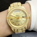 1:1 Clone Rolex Watches 18K Gold Plating Swiss Chip Rolex Date Week Watches