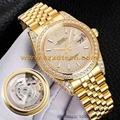 Rolex Shiny Full Diamond Watches Rolex Watches AAA Quality 1:1 Size Swiss Moveme