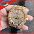 Diamond Audemars Piguet Watches 15400 Collection Swiss Chip Italian Calf Leather