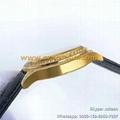 Diamond Piaget Watches GOA320 Collection Quality Calf Leather Belt Watterproof