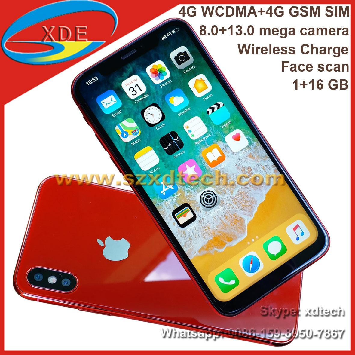 Wholesale iPhone X 1:1 Copy iPhone X Wireless Charge 4G Fast Scan