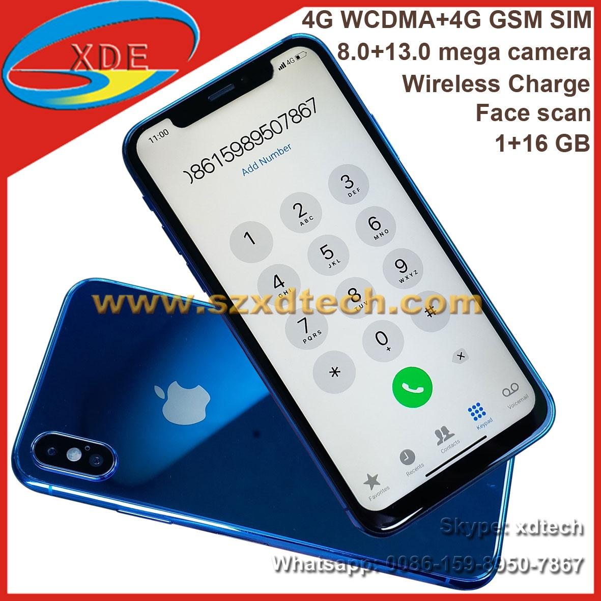 Replica IPhone X Real 11 Screen Wireless Charge Face Scan 4G Fast 1