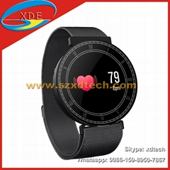 Round Bracelet Tempered Glass Sports Watches Milan Strape Waterproof