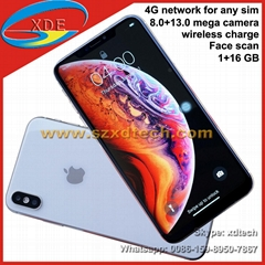 Best Replica iPhone Xs Max 6.5 inch Big Screen Face Scan Wireless Charge 4G Free