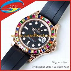 Replica Rolex Watches Rolex Wrist Color Diamond Leather Strape