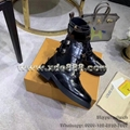 High Quality Louis Vuitton Boots Shining Leather Boots Women's Boots