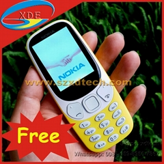 Free Shipping Nokia 3310 2.4 Inch Screen Good Battery Low Price Mobile Phones