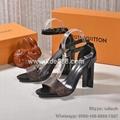 Louis Vuitton Silhouette Sandal Top Quality Calf Leather 1:1 Clone Women Sandals