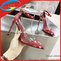 Sexy Louis Vuitton High Heel Sandals Monogram Pointed Shoes Women's Shoes