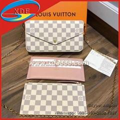 AAAAA Quality Copy Louis Vuitton FÉLICIE POCHETTE Damier Monogram Purse Mini Bag