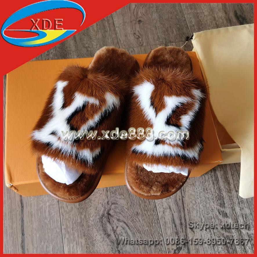 Mink Fur Slides               Slippers               Shoes  1