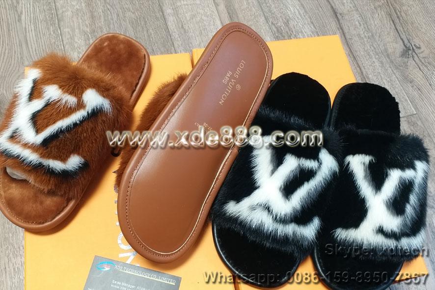Mink Fur Slides               Slippers               Shoes  7