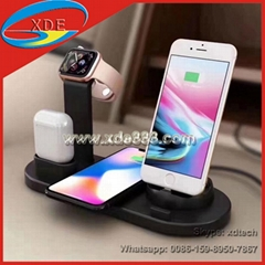 High Quality Multi-Function Charger Charger Stand iWatch Charger Wireless Charge