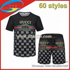 Wholesale T-Shirt Short Sleeve Set Big Brand Shirts Beachwears