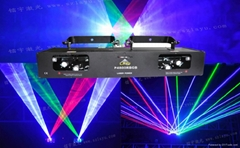Fat beam RBGB laser light