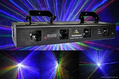 four head RGBY beam laser