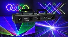 RGBPY 5 head 5 lens  beam laser light for nighclub dj disco