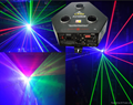 3 head RGB ceiling laser light