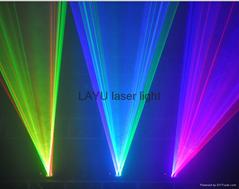 Double tunnel RB GB RG  beam laser light