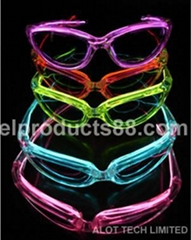 EL Flashing Sunglasses EL Glowing Sunglasses EL Wire Eye Wear