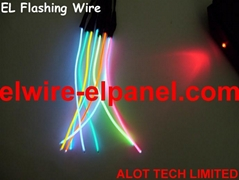 EL Wire Luminescent  EL Glowing Wire 0.9mm EL Flashing Wire